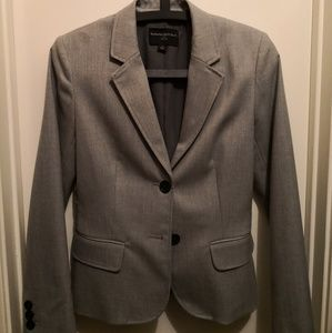 Banana Republic Blazer: Gray Solid Women's Jackets